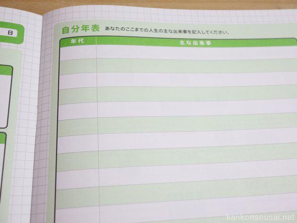 エンディングノート,自分史,自分史年表